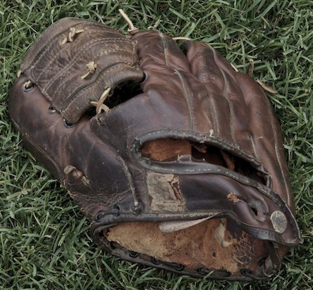 James Benning's childhood baseball glove (photo courtesy of JB)