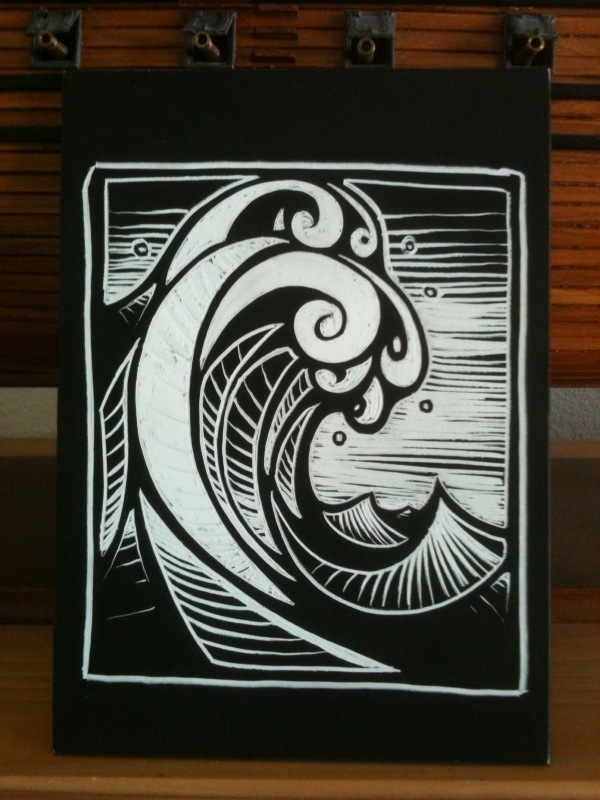 Rogue Wave scratchboard