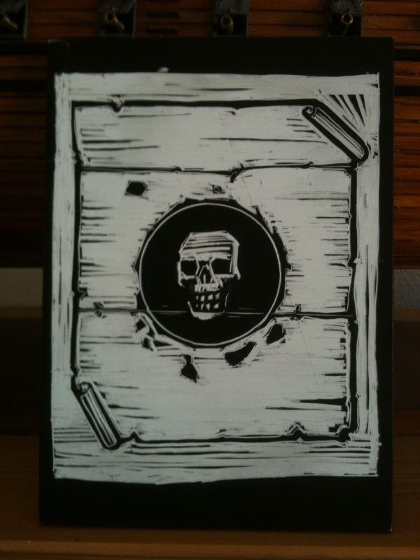 Black Spot scratchboard