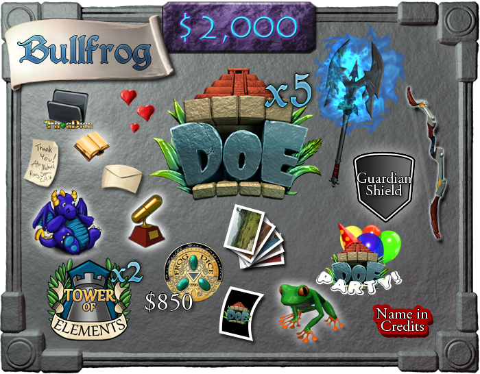 $2,000 - Bullfrog (limit 5)