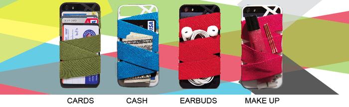 每日一配:Strap-E iPhone 4/4S/5 手机壳可以收纳你的信用卡、现金等