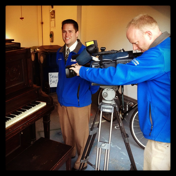 Time Warner Cable's YNN Buffalo filming the project for their newscast