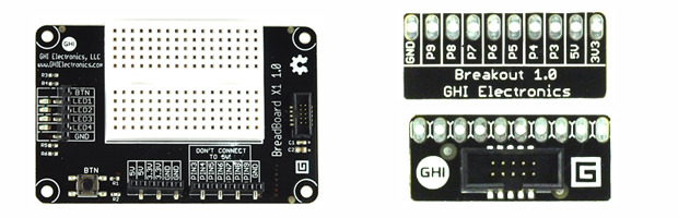 Breadboard & Breakout Modules, options for direct wiring.