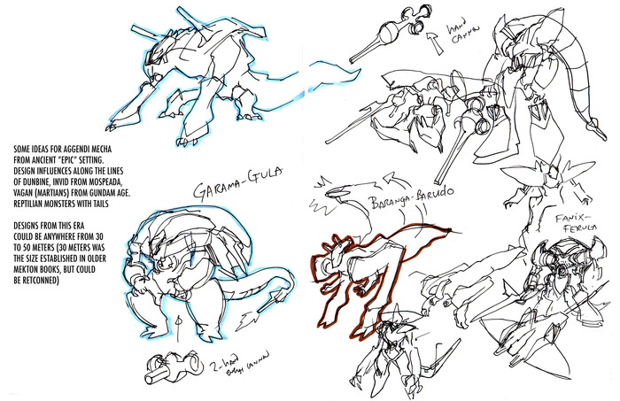 Concept Art for the invading Agendi Mektons