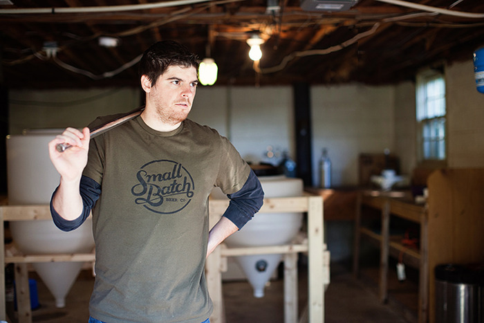 Brewer Tim modeling our shirt (he was caught off guard, we promise).
