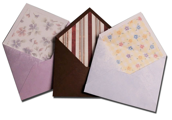 Use Liner Templates to add liners to your envelopes like this^