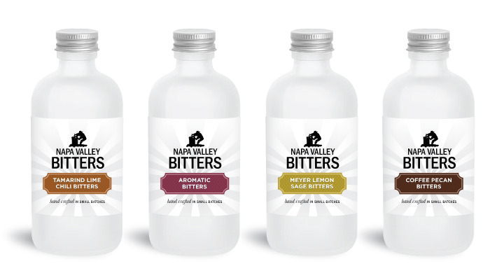 Napa Valley Bitters sample packaging of possible bitter flavors