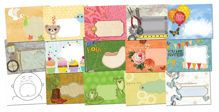 Printable envelopes that come in the pdf pack. See Update #5 for more details
