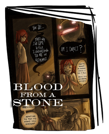 Blood from a Stone Mini Comic with Kickstarter Exclusive Cover