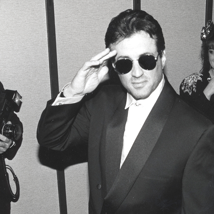 Sylvester Stallone at the Gianni Versace show