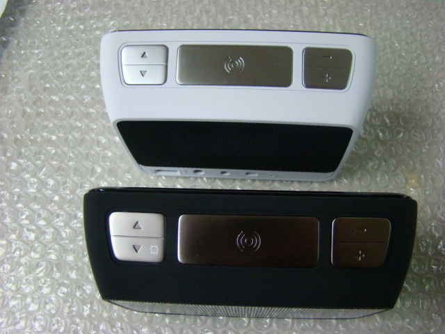 Night black & Pearl white (top view). Note: both colors are the same size, just a funky camera lens.