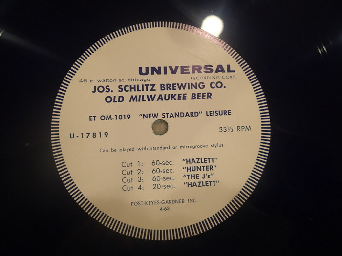 Schlitz Vinyl record (1) included with $125 package - $185