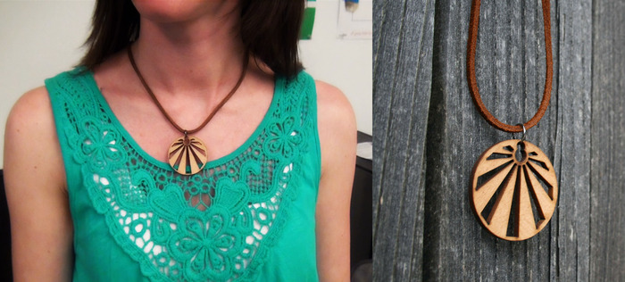(reward) THE $10 REPURPOSED SUNBURST NECKLACE Made from the same re-purposed materials used for the outdoor classroom