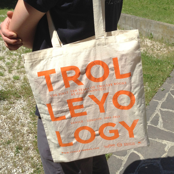TROLLEYOLOGY Tote Bag Front, specially made for us at the Rio Terà dei Pensieri prison in Venice