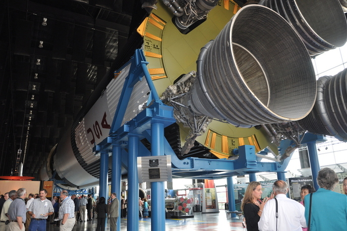 Notice the scale of the viewers next to the Saturn V (U.S. Space & Rocket Center, AL)