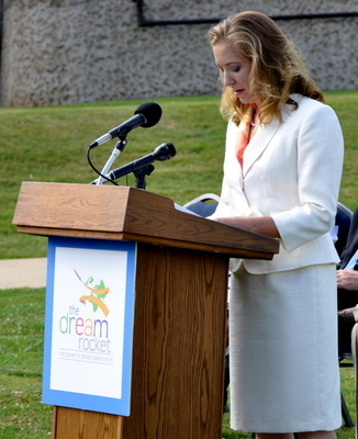 Jennifer Marsh, project director (2009 Press Conference at the U.S. Space & Rocket Center, AL)