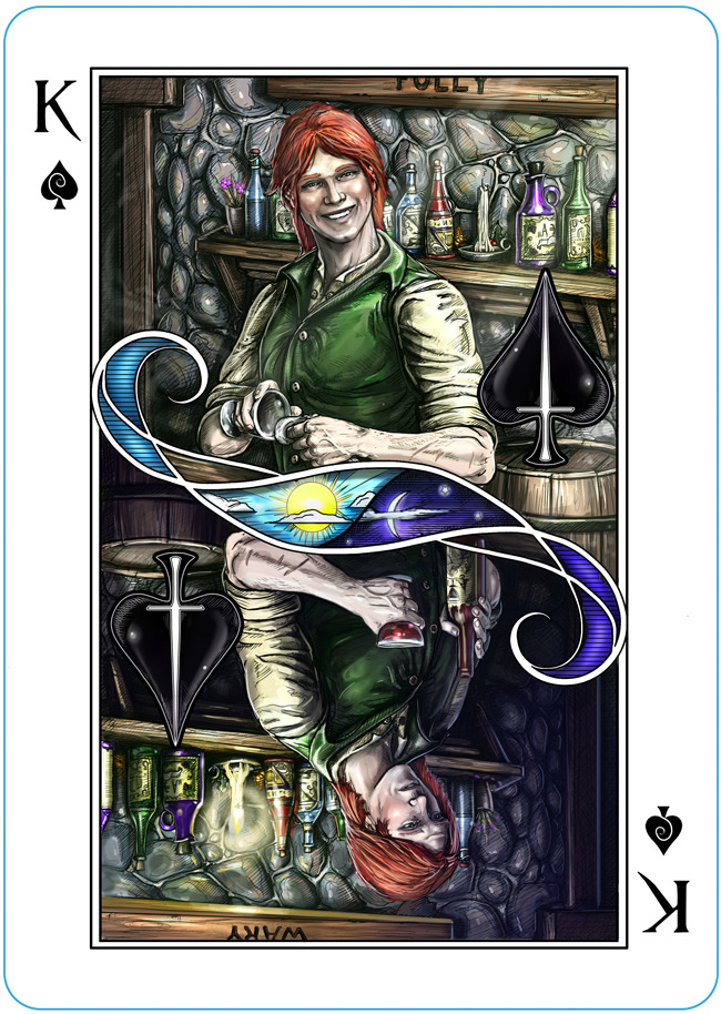 The Name Of The Wind Deck Playing Cards Deck Unlimited Edition Red Back