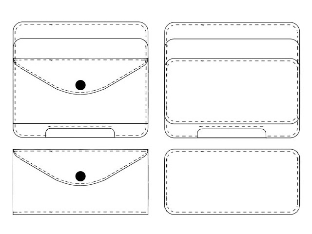 Drawings of the ONIKAGI wallet