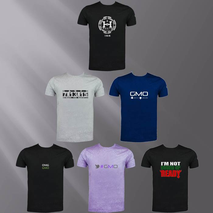Some of our non-GMO organic t-shirt designs for special backers.
