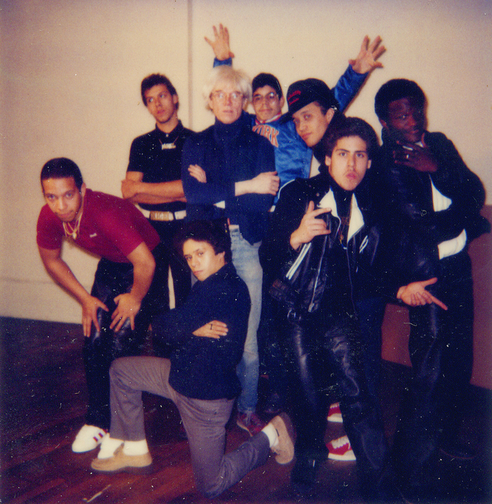 Michael Holman and The New York City Breakers with Andy Warhol