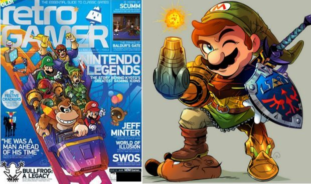 Wil Overton art. Retro Gamer (left, Copyright Imagine Publishing), and Nintendo Gamer (right, Copyright Future Publishing).