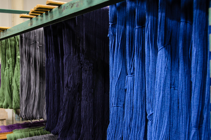 Skein Dyeing - Our Drying Racks