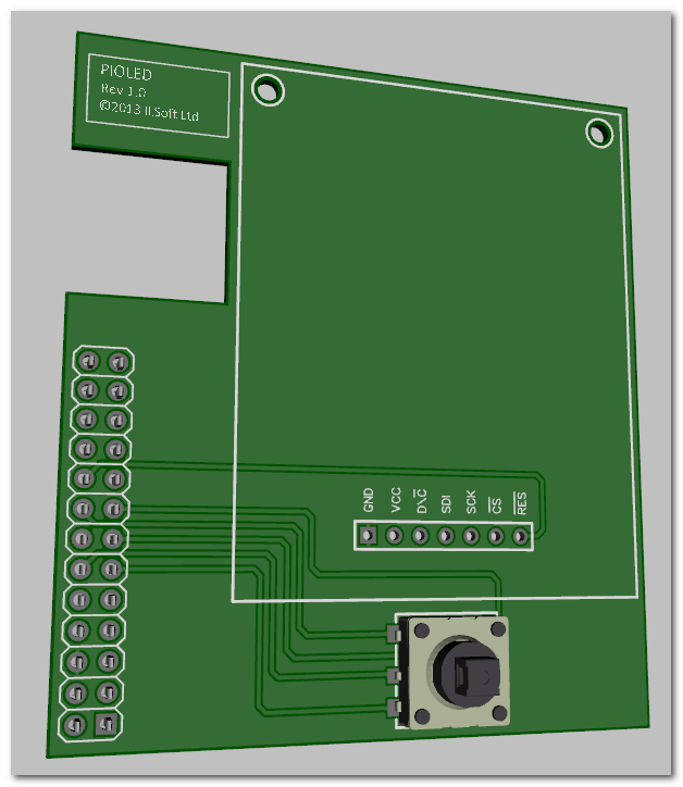 3D View Of PiOLED Board