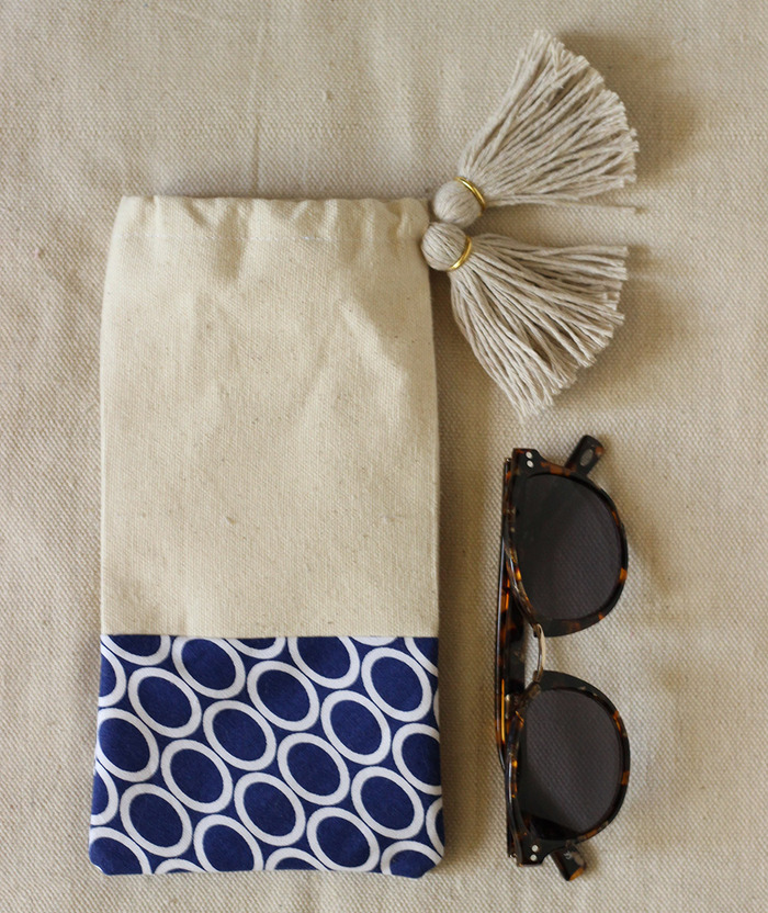 Tasselled Sunglasses Pouch