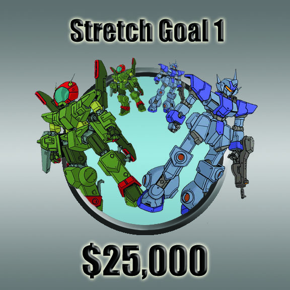 "With our first Stretch Goal, Everyone who got Maulers & Vectors now get a full squad (5 Figures) of each! And ""Separate Buys"" will make an appearance with, Patches, Mecha and Dice!"