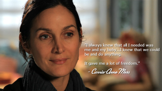 Carrie-Anne Moss: Actress and Breastfeeding Advocate