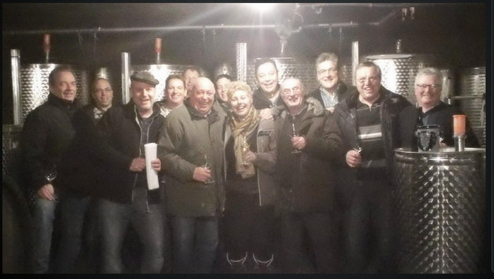 (Click picture for video) Wine tasting with some local friends in Zeltingen-Rachtig