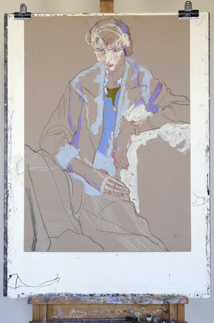 Original drawing – Boy in blue jacket ( SOLD )