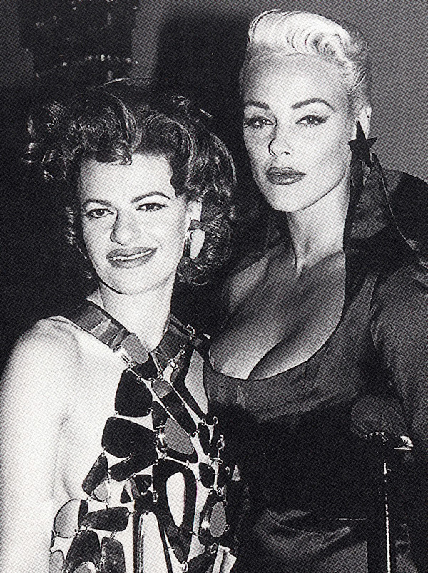 Sandra Bernhard (left) with Brigitte Nielsen (right)