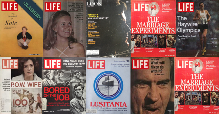 NEWLY ADDED REWARD! These 10 historical LIFE Magazines from the late 1960s and early 1970s capture the era in which our story is set!