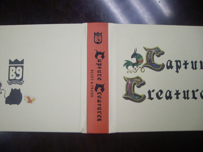 A test from the printer of how we want the Capture Creatures Standard Edition Cover to look.