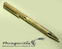 The Phragwrites Pen, one of our thank you gift items, maybe be the only useful item made from the common reed.