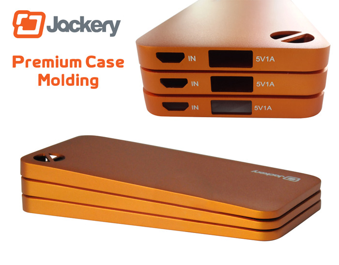 Jackery Air cases made by the same premium aluminum molding process used by Apple