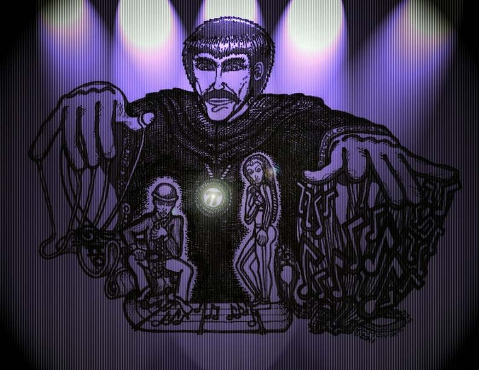 DETAIL FROM ORIGINAL MOVIE POSTER IMAGE - 'PHIBES IN CONCERT'