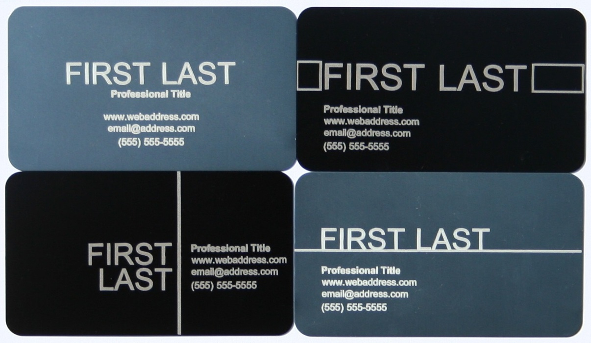 Frame aluminum business cards indiegogo frame business cards are standard uscanada dimensions at 35 x 20 x 005 the dimensions are similar to those of a credit card so they can easily fit reheart Image collections