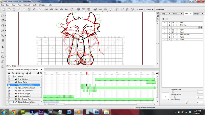Animating in Toon Boom Studio