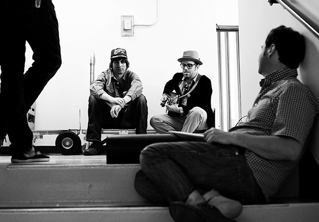 Left to right: Todd Fancey, Paul Rigby, Kurt Dahle - 'backstage' at the Royal BC Museum. Photo by: Jenna & Tristan Shouldice