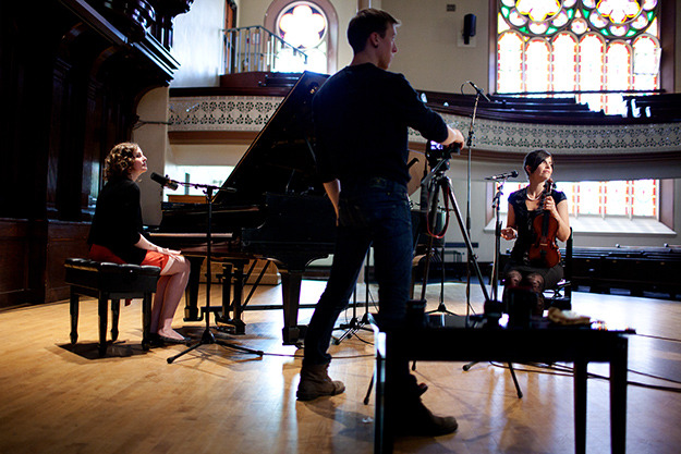 We rented out the beautiful Alix Goolden Hall in Victoria to shoot the opening and closing credit sequences. As a child, Kathryn took music lessons in this building. Photo by: Jenna Shouldice