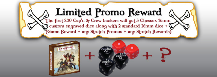 ~ Get early bird swag fer yer game! (No need to share dice in a 2 player game--Savvy?)~