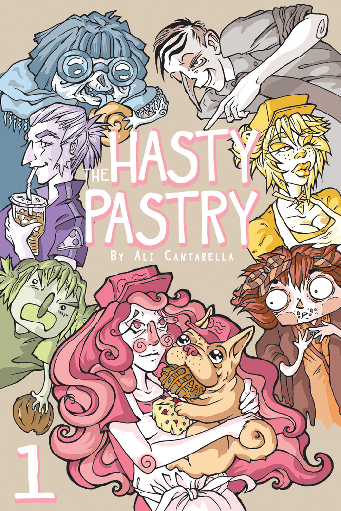 The colorful characters on this Hasty Pastry: Book One cover are only a handful of the goofy cast that waits inside!