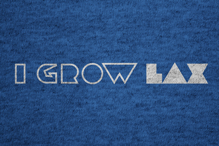 Front of the I GROW LAX t-shirt