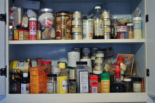 YES - this is my actual spice cabinet!!