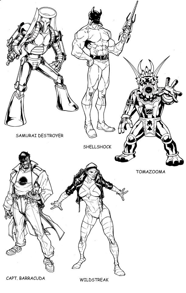 A page from the Marvel Universe Update books.