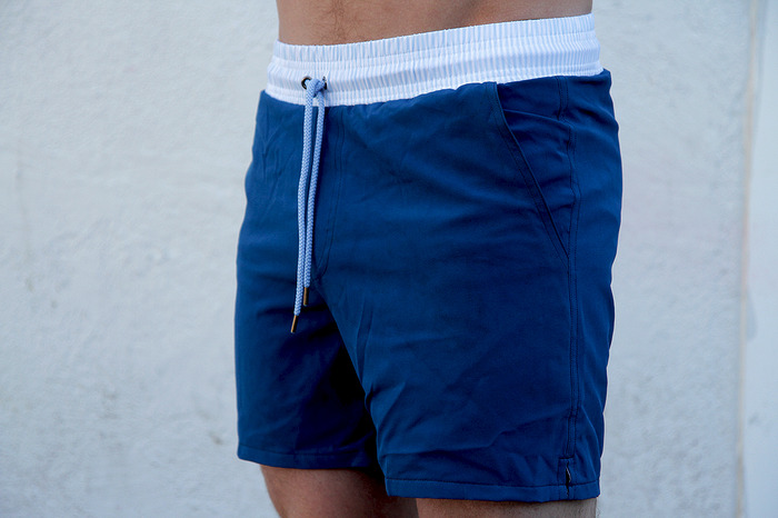 The Blue & Seersucker Waistband (Size on Model - S/M Regular)
