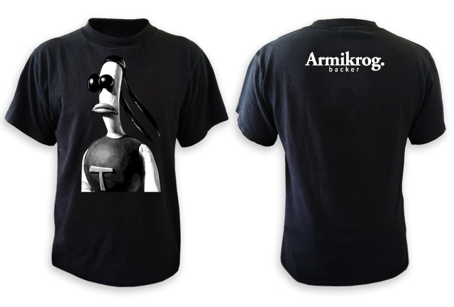 Kickstarter Exclusive Armikrog T-Shirt ($200 tier and above)