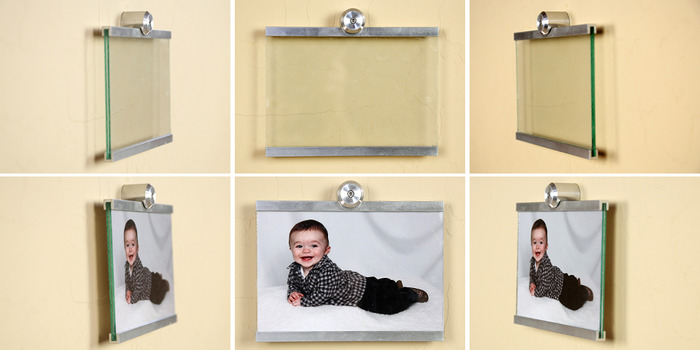 "Displayed here is Horizontal 5""x7"" Wall Mounted Photo Frame"